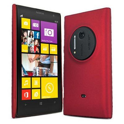 Microsonic Rubber Kılıf Nokia Lumia 1020 Kırmızı Cep Telefonu Kılıfı