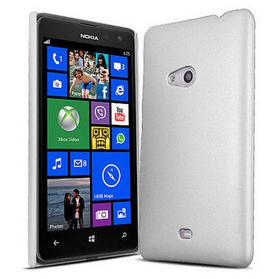 Microsonic Rubber Kılıf Nokia Lumia 625 Beyaz Cep Telefonu Kılıfı