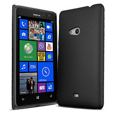 Microsonic Rubber Kılıf Nokia Lumia 625 Siyah Cep Telefonu Kılıfı