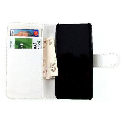 Microsonic Cüzdanlı Deri Kılıf - Avea Intouch2 Beyaz Cep Telefonu Kılıfı