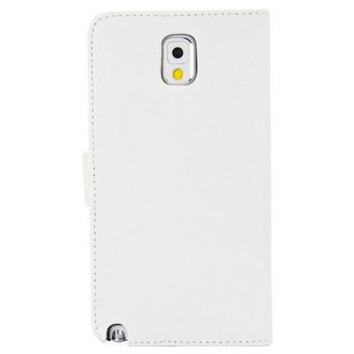 Microsonic Cüzdanlı Deri Kılıf - Samsung Galaxy Note3 N9000 Beyaz Cep Telefonu Kılıfı