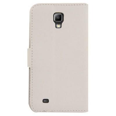 Microsonic Cüzdanlı Deri Kılıf - Samsung Galaxy S4 Active I9295 Beyaz Cep Telefonu Kılıfı