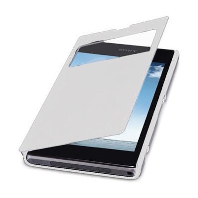Microsonic View Cover Delux Kapaklı Kılıf Sony Xperia Z1 L39h Beyaz Cep Telefonu Kılıfı