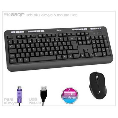 Frisby Fk-88qp Kablolu Ofis Klavye & Mouse Set Klavye Mouse Seti