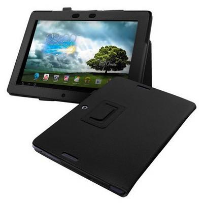 Microsonic Kickstand Deri Kılıf Asus Memo Pad Fhd 10 Me302c Me302kl Siyah Tablet Kılıfı
