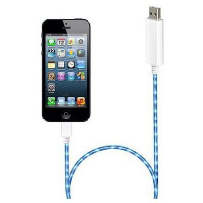 Microsonic 8pin Iphone 5 & 5s - Ipad Mini Akımı Gösteren Işıklı Data Ve Şarj Kablosu Adaptör Kablosu
