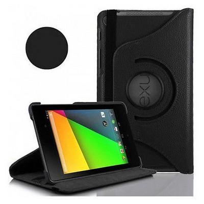 Microsonic 360 Rotating Deri Kılıf Asus Google Nexus 7-ıı Siyah Tablet Kılıfı