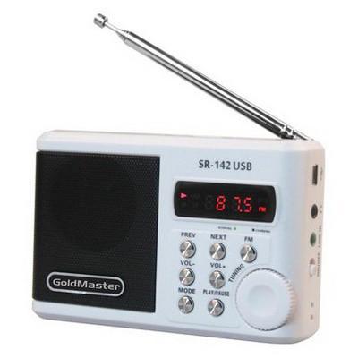 Goldmaster Sr-142 Usb Taşınabilir Hoparlörlü Modern El su Radyo
