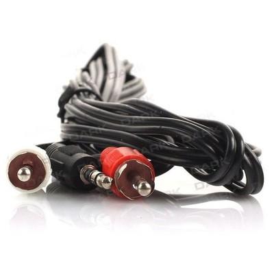 Dark 3 Metre 2 x RCA (Analog Ses) - 3.5mm Stereo Kablosu (2 x RCA Erkek - 1 x 3.5mm Stereo Dişi) Ses ve Görüntü Kabloları