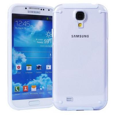 Microsonic Hybrid Transparant Kılıf - Samsung Galaxy S4 I9500 Beyaz Cep Telefonu Kılıfı