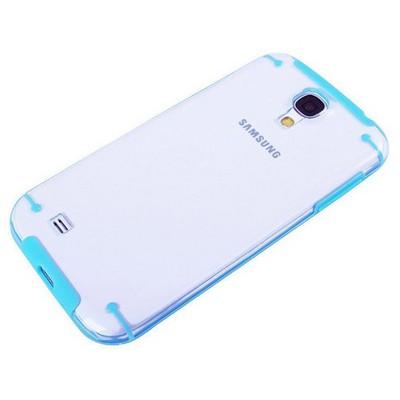 Microsonic Hybrid Transparant Kılıf - Samsung Galaxy S4 I9500 Mavi Cep Telefonu Kılıfı