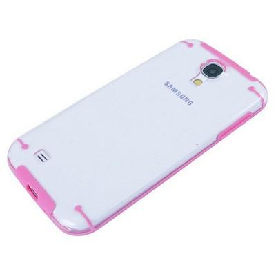 Microsonic Hybrid Transparant Kılıf - Samsung Galaxy S4 I9500 Pembe Cep Telefonu Kılıfı