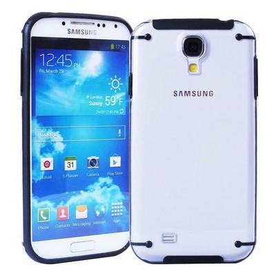 Microsonic Hybrid Transparant Kılıf - Samsung Galaxy S4 I9500 Siyah Cep Telefonu Kılıfı