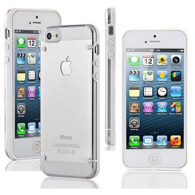 Microsonic Hybrid Transparant Kılıf - Iphone 5 & 5s Beyaz Cep Telefonu Kılıfı