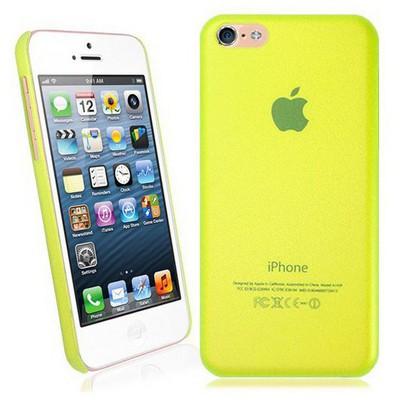 Microsonic Ultra Thin 0.2mm Kılıf Iphone 5c Sarı Cep Telefonu Kılıfı