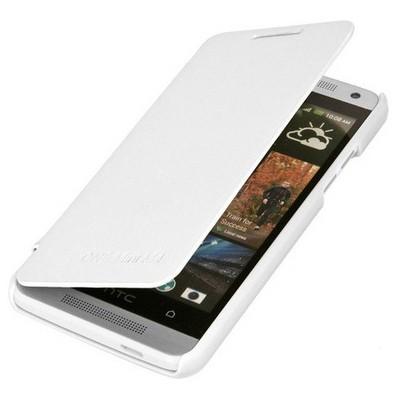 Microsonic Ultra Thin Kapaklı Kılıf Htc One M4 Beyaz Cep Telefonu Kılıfı