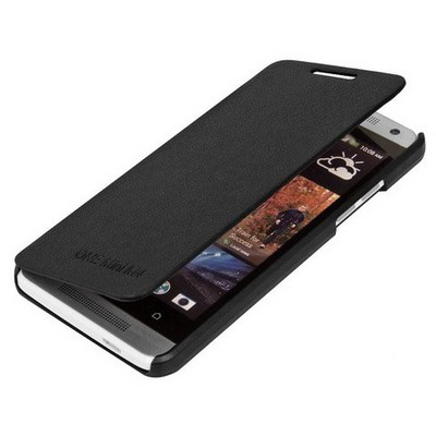 Microsonic Ultra Thin Kapaklı Kılıf Htc One M4 Siyah Cep Telefonu Kılıfı