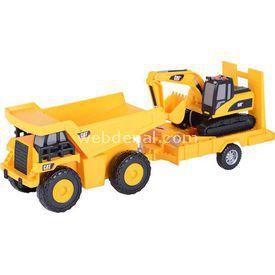 CAT Dupm Pulling Excavatorsesli Ve Işıklı Oyun Set Erkek Çocuk Oyuncakları