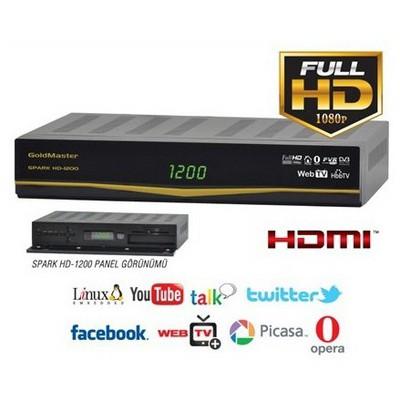 Goldmaster Hd-1200 Spark Dijital Uydu Alıcı Media Player