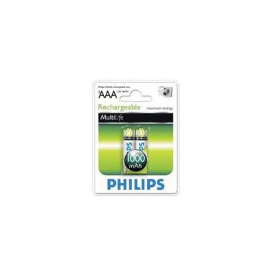 Philips R03b2a100-97 1000 Mah Aaa Şarjlı Pil 2 Li Blister Pil / Şarj Cihazı