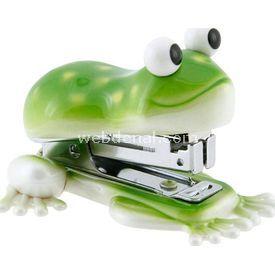 Necotoys Kurbağa Figürlü Mini Zımba Ofis / Kırtasiye Ürünü