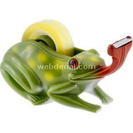 Necotoys Kurbağa Figürlü Bant Makinesi Ofis / Kırtasiye Ürünü