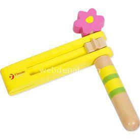 Yakamoz Ahşap Kastanet Sarı Ahşap Oyuncaklar