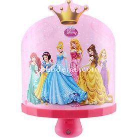 YKC Disney Prenses 3d Ledli Sihirli Gece Lambası Lamba & Abajur
