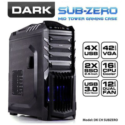 Dark Sub-Zero Mid Tower Kasa (DKCHSUBZERO)