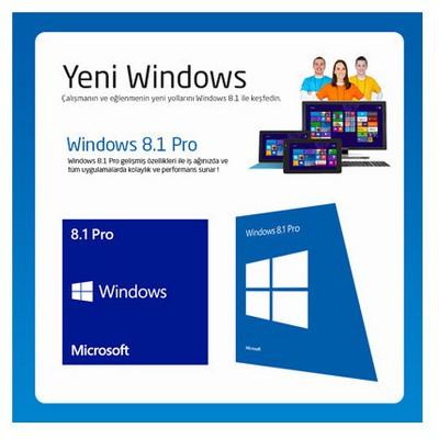 Microsoft Ms Oem Wındows 8.1 Pro 64-bit Türkçe Fqc-06995 İşletim Sistemi