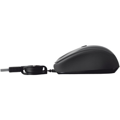 Trust 19651 Yvi Retractable Mouse - Siyah