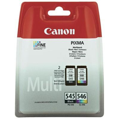 Canon 8287B005 PG-545-CL-546 Siyah+Renkli Kartuş