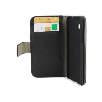 Microsonic Cüzdanlı Standlı Deri Kılıf - Htc Desire 600 Dual Sim 606w Siyah Cep Telefonu Kılıfı