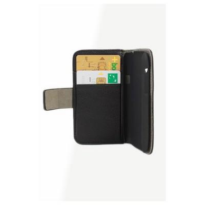 Microsonic Cüzdanlı Standlı Deri Kılıf - Htc Desire X Siyah Cep Telefonu Kılıfı