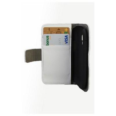 Microsonic Cüzdanlı Standlı Deri Kılıf - Samsung Galaxy S3 Mini I8190 Beyaz Cep Telefonu Kılıfı