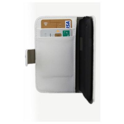 Microsonic Cüzdanlı Standlı Deri Kılıf - Samsung Galaxy S3 I9300 Beyaz Cep Telefonu Kılıfı