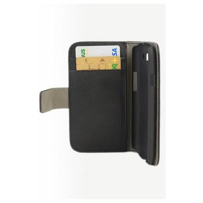 Microsonic Cüzdanlı Standlı Deri Kılıf - Samsung Galaxy S3 I9300 Siyah Cep Telefonu Kılıfı