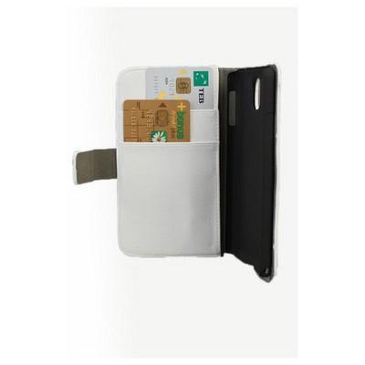 Microsonic Cüzdanlı Standlı Deri Kılıf - Samsung Galaxy Note3 N9000 Beyaz Cep Telefonu Kılıfı