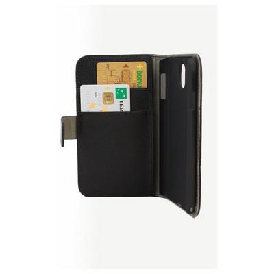 Microsonic Cüzdanlı Standlı Deri Kılıf - Samsung Galaxy Note3 N9000 Siyah Cep Telefonu Kılıfı