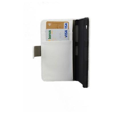 Microsonic Cüzdanlı Standlı Deri Kılıf - Sony Xperia Z1 L39h Beyaz Cep Telefonu Kılıfı