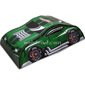 Hot Wheels Çantalı Araç Oyun Parkuru Yeşil Erkek Çocuk Oyuncakları
