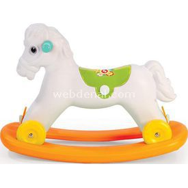 Dolu Fisher-price Sallanan Tekerlekli At Kutuda Arabalar