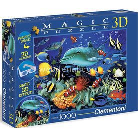 Clementoni Dolphin Reef - 1000 Parça 3 Boyutlu Sihirli Puzzle