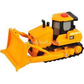 CAT Flash Rides Sesli Ve Işıklı Iş Bulldozer Makinası Erkek Çocuk Oyuncakları