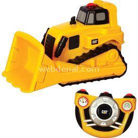 CAT E-z Tek Yönlü Kumandalı Bulldozer Iş Makinası Erkek Çocuk Oyuncakları