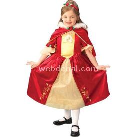 Rubies Prenses Belle Çocuk Kostüm Platinium 7-8 Yaş Kostüm & Aksesuar