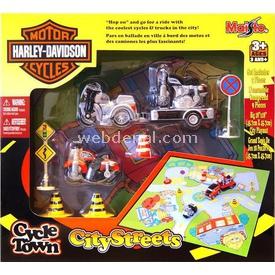 Maisto Harley-davidson City Streets Oyun Seti Siyah Erkek Çocuk Oyuncakları