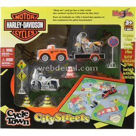 Maisto Harley-davidson City Streets Oyun Seti Turuncu Araç Erkek Çocuk Oyuncakları
