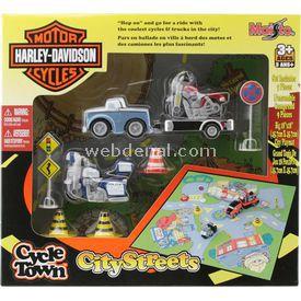 Maisto Harley-davidson City Streets Oyun Seti Mavi Araç Erkek Çocuk Oyuncakları