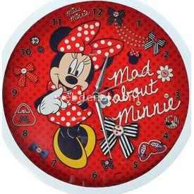 YKC Minnie Mouse Duvar Saati Bebek Odası Aksesuarı